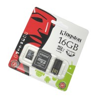 Карта памяти MicroSD Kingston 16GB Mobility Kit Class 10 + SD адаптер + USB Reader
