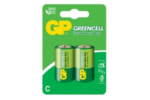 Солевая батарейка GP C 1.5V Greencell Extra Heavy Duty