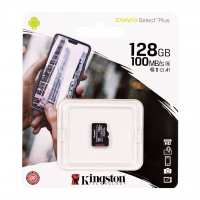 Карта памяти MicroSD Kingston 128Gb Class 10 Canvas Select Plus UHS-I U1 A1 (100Mb/s)